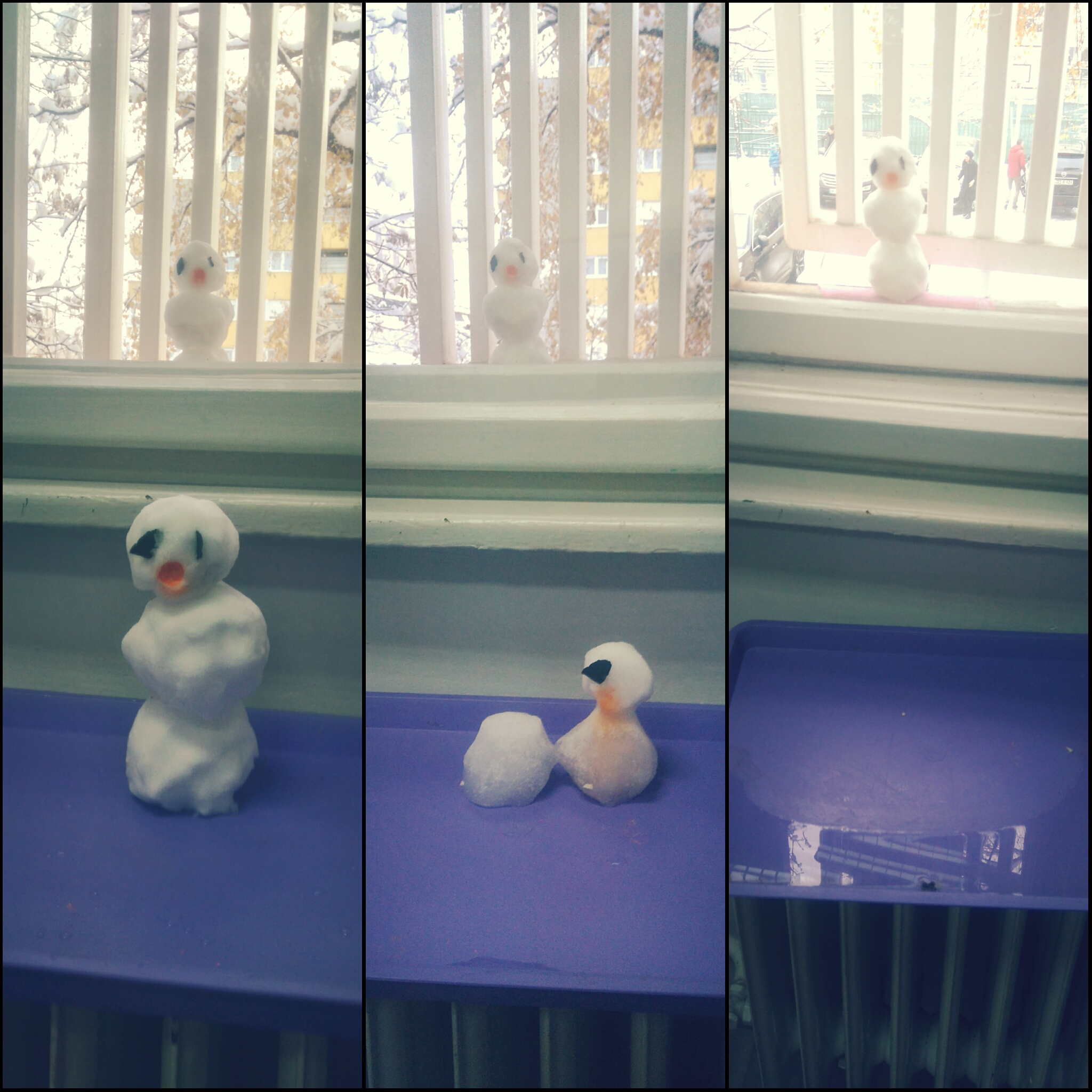 One snowman