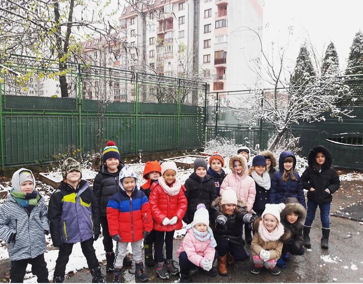 First snow in Sarajevo